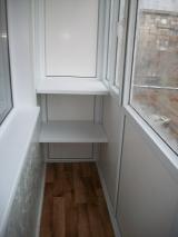 Остекление балкона + пол