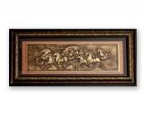 Картина с барельефом «Колесница» в багете, металлизация 45,5 х 13 х 4 см